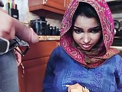 Arab hottie Ada gets her pussy filled with warm cumload